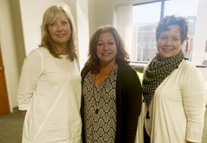 Sheri Welsh of the Welsh Wire with Elizabeth Wright of 633 Group and Heather Isch of LKF Marketing